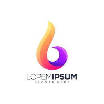 Brand logo ontwerp vectorillustratie