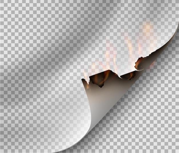 Brand papier. illustratie