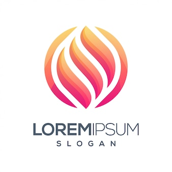 Brand rond kleurverloop logo