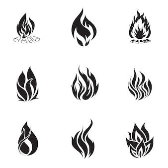 Brand vector set. eenvoudige vuurvormillustratie, bewerkbare elementen, kan worden gebruikt in logo-ontwerp