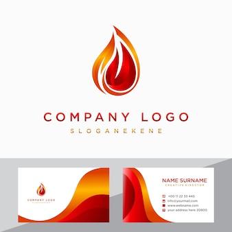 Brand vlam gradiënt logo vector