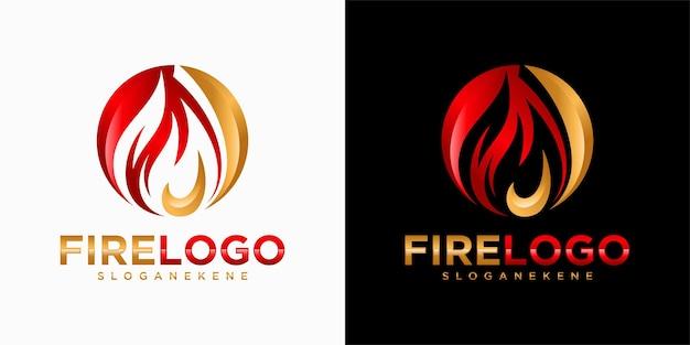 Brand vlam gradiënt logo