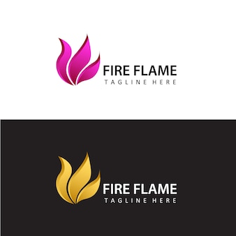 Brand vlam logo sjabloon ontwerp vector