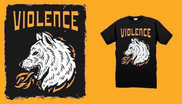 Brand wolf illustratie