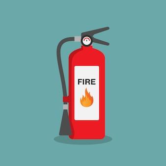 Brandblusser vlakke afbeelding