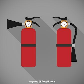 Brandblussers illustratie