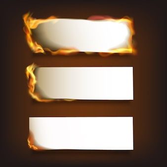 Brandend papier instellen