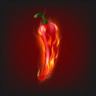 Brandende chili peper