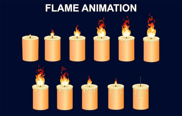 Brandende kaarsen set