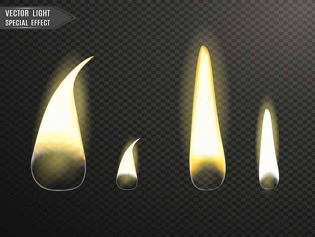 Brandende kaarsen. vlam.