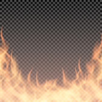Brandende rand sjabloon voor banner of je illustratie