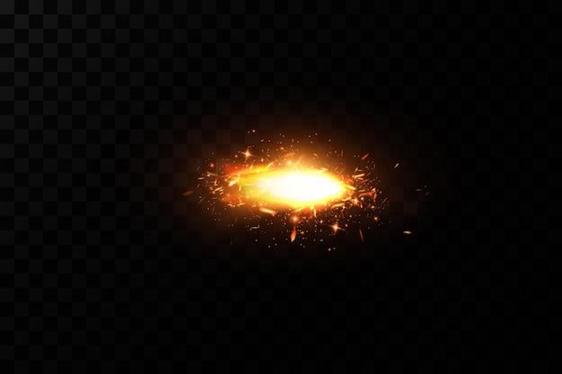 Brandende vurige vonken vonken van vuurvector