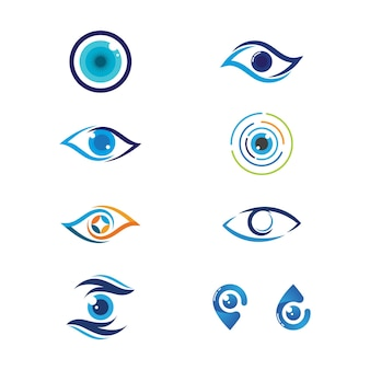 Branding identiteit corporate eye care vector design