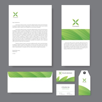 Branding identiteits sjabloon corporate company design
