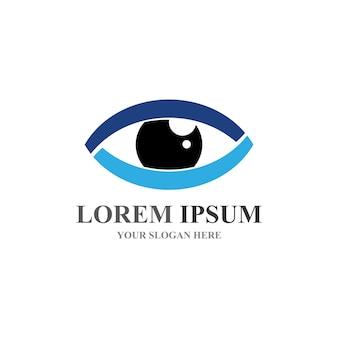 Branding identity corporate eye care vector logo ontwerp
