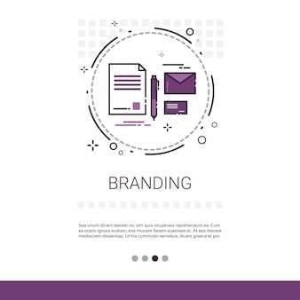 Branding project development startup banner