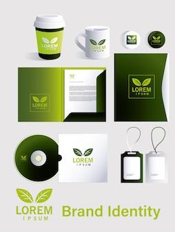 Branding van identiteit voor in bedrijven illustratie ontwerp