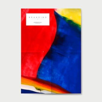 Brandmerkende poster met abstracte ontwerpvector