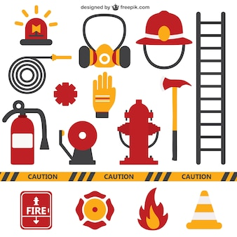 Brandweerlieden apparatuur
