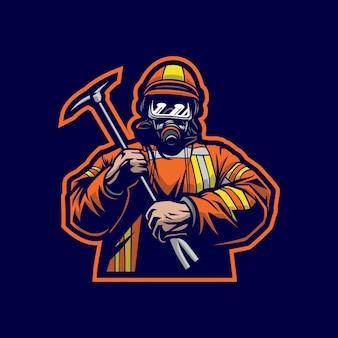Brandweerlieden mascotte logo ontwerp