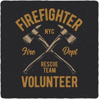 Brandweerman bijlen