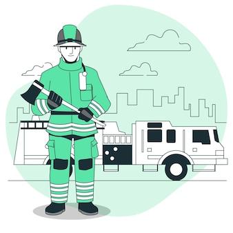 Brandweerman concept illustratie