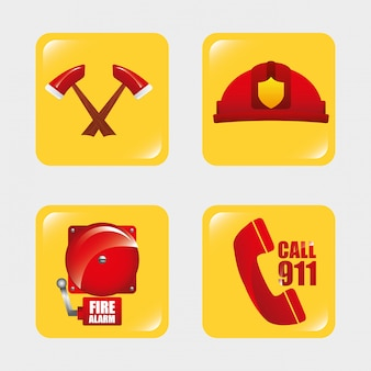 Brandweerman gereedschappen