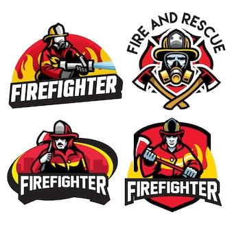 Brandweerman logo ontwerp