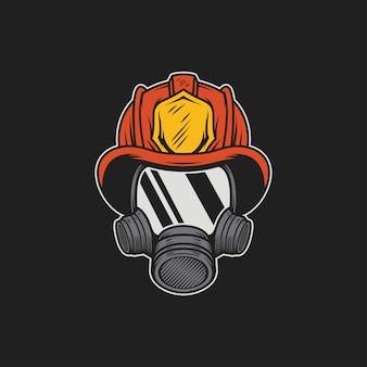 Brandweerman masker