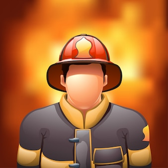 Brandweerman met vuur