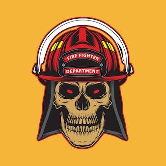 Brandweerman schedel embleem