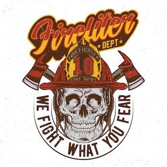 Brandweerman schedel