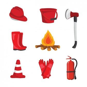 Brandweermanapparatuur ontwerp