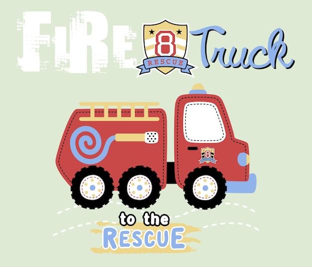 Brandweerwagen cartoon