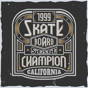 Brandy-lettertype met bewerkbaar embleem met lijnen en sierlijke lettertype-tekst in vintage stijl