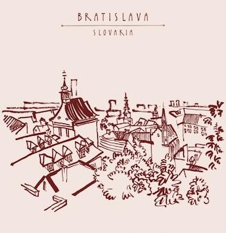 Bratislava achtergrond ontwerp