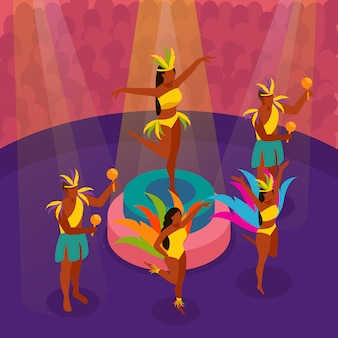 Braziliaans carnaval dansfestival
