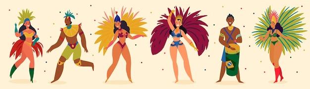 Braziliaans carnaval grote reeks pictogrammen ontwerpelementen