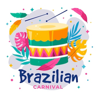 Braziliaans carnaval in plat design