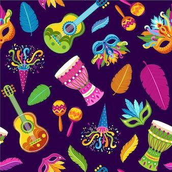 Braziliaans kleurrijk carnaval patroon