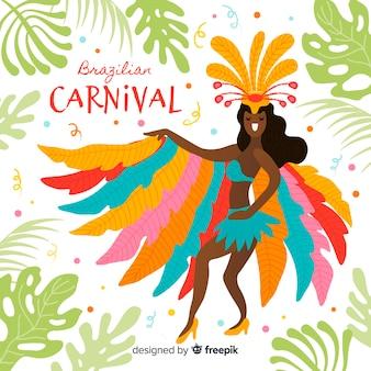 Braziliaanse carnaval achtergrond