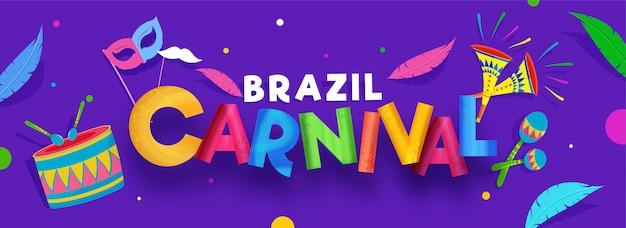 Braziliaanse carnaval banner.