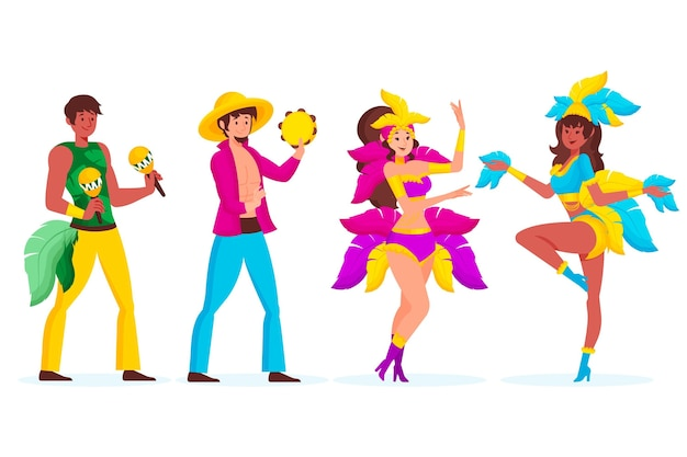 Braziliaanse carnaval danser collectie