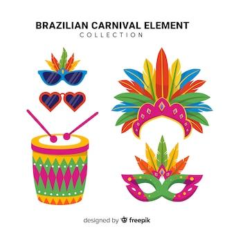 Braziliaanse carnaval element collectie