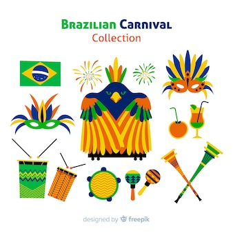Braziliaanse carnaval element collectie