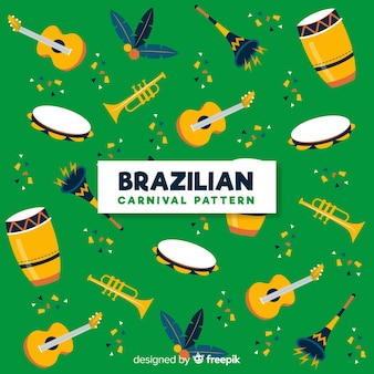 Braziliaanse carnaval elementen achtergrond