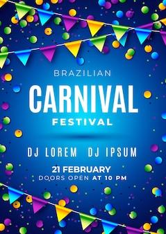 Braziliaanse carnaval folder sjabloon