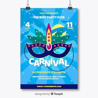 Braziliaanse carnaval partij flyer sjabloon
