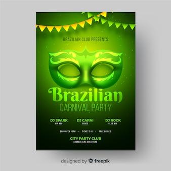 Braziliaanse carnaval partij poster