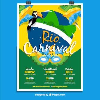 Braziliaanse carnaval voorbladsjabloon